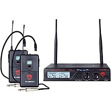 Open Box Nady U-2100 GT - Dual Channel UHF Wireless Guitar/Instrument System