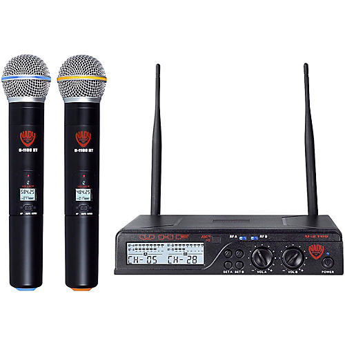 Nady U-2100 HT - Dual 100 Channel UHF Handheld Wireless Microphone System Condition 1 - Mint Band A and B