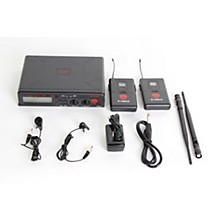 Open BoxNady U-2100 LT - Dual Channel UHF Wireless System with Omnidirectional Lavalier/Lapel Microphone