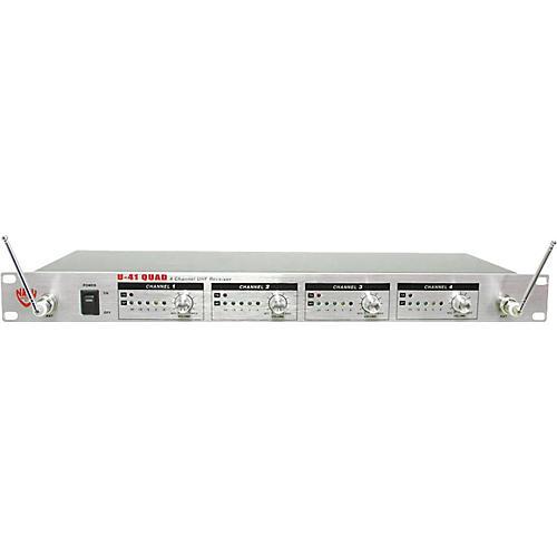 Nady U-41 Four-Channel Wireless Lavalier/Handheld Microphone System