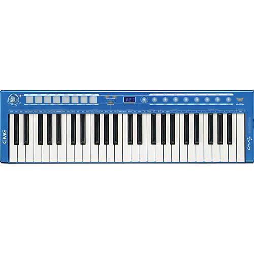 CME U-Key V2 49-Key USB MIDI Controller in Blue