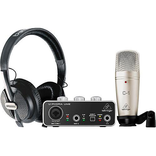 Behringer U-PHORIA STUDIO Complete Recording/Podcasting Bundle Black