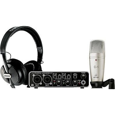 Behringer U-Phoria Studio Pro Complete Recording/Podcasting Bundle