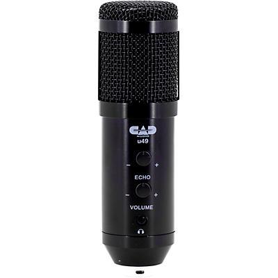 CAD U49 USB Side Address Studio Microphone with Headphone Monitor and Echo Effects