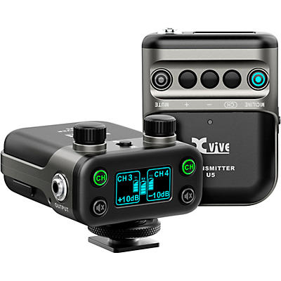 XVive U5 Dual-Channel Wireless System for Lavalier Microphone and Audio Devices