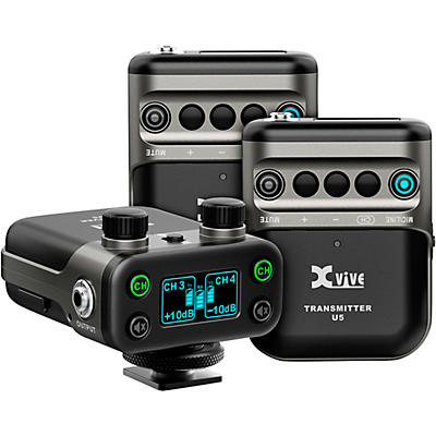 XVive U5T2 Dual-Channel Wireless System for Lavalier Microphone and Audio Devices