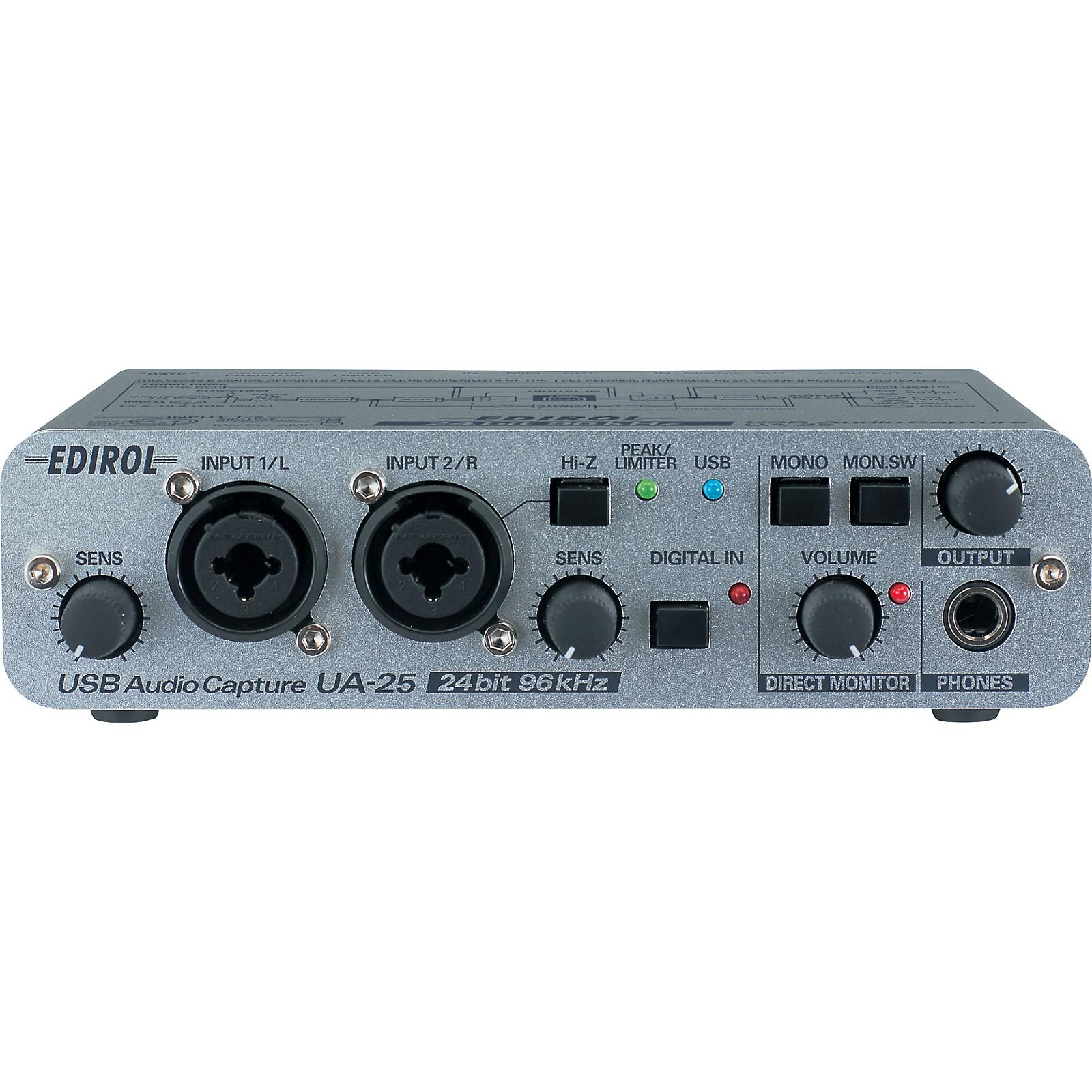 Edirol UA-25 USB Bus Powered Stereo Audio Interface