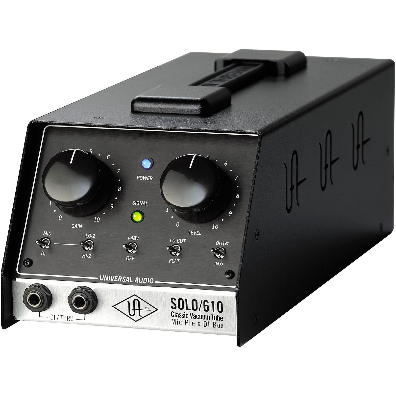 Universal Audio UA-S610 SOLO/610 Classic Vacuum Tube Microphone Preamp and DI Box