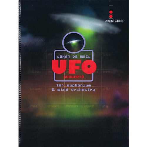 Amstel Music UFO Concerto (for Euphonium and Wind Orchestra) (Score Only) Concert Band Level 5 by Johan de Meij