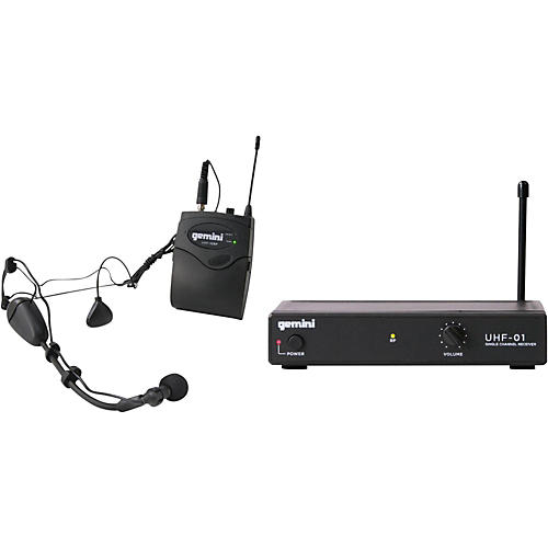 Gemini UHF-01HL Wireless Headset/Lavalier Combo System Condition 1 - Mint F3
