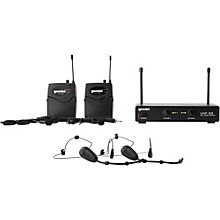 Open Box Gemini UHF-02HL 2-Channel Wireless Headset/Lavalier Combo System