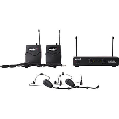 Gemini UHF-02HL 2-Channel Wireless Headset/Lavalier Combo System