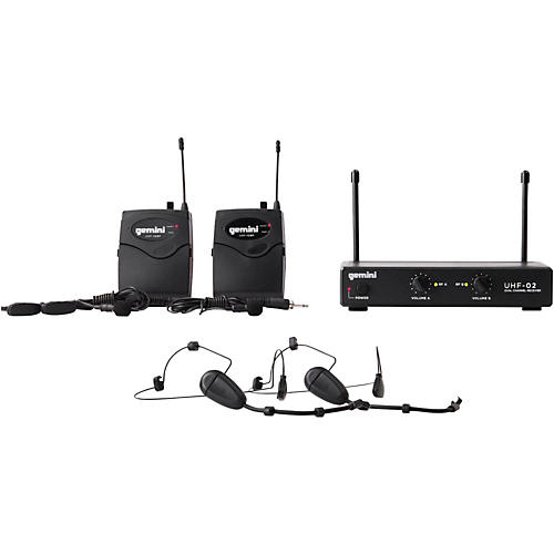 Gemini UHF-02HL 2-Channel Wireless Headset/Lavalier Combo System Condition 2 - Blemished S12 194744124303