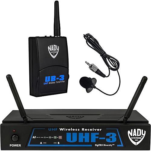 Nady UHF-3 Lavalier Wireless System Condition 1 - Mint MU1/470.55