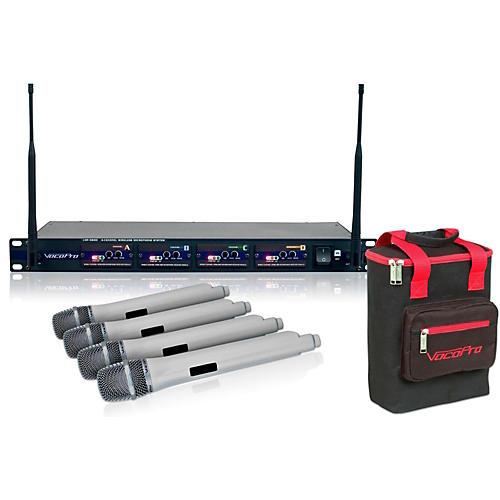 vocopro uhf 5800 plus 4 microphone wireless system white musician 39 s friend. Black Bedroom Furniture Sets. Home Design Ideas