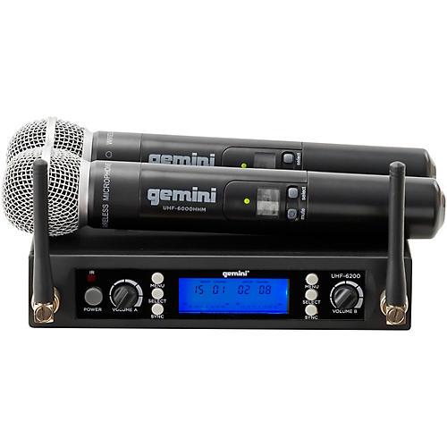 Gemini UHF-6200M UHF Dual Handheld System Condition 1 - Mint