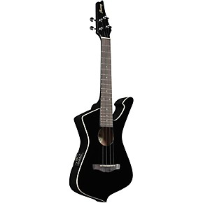 ibanez uict10 iceman tenor acoustic-electric ukulele gloss black |  musician's friend
