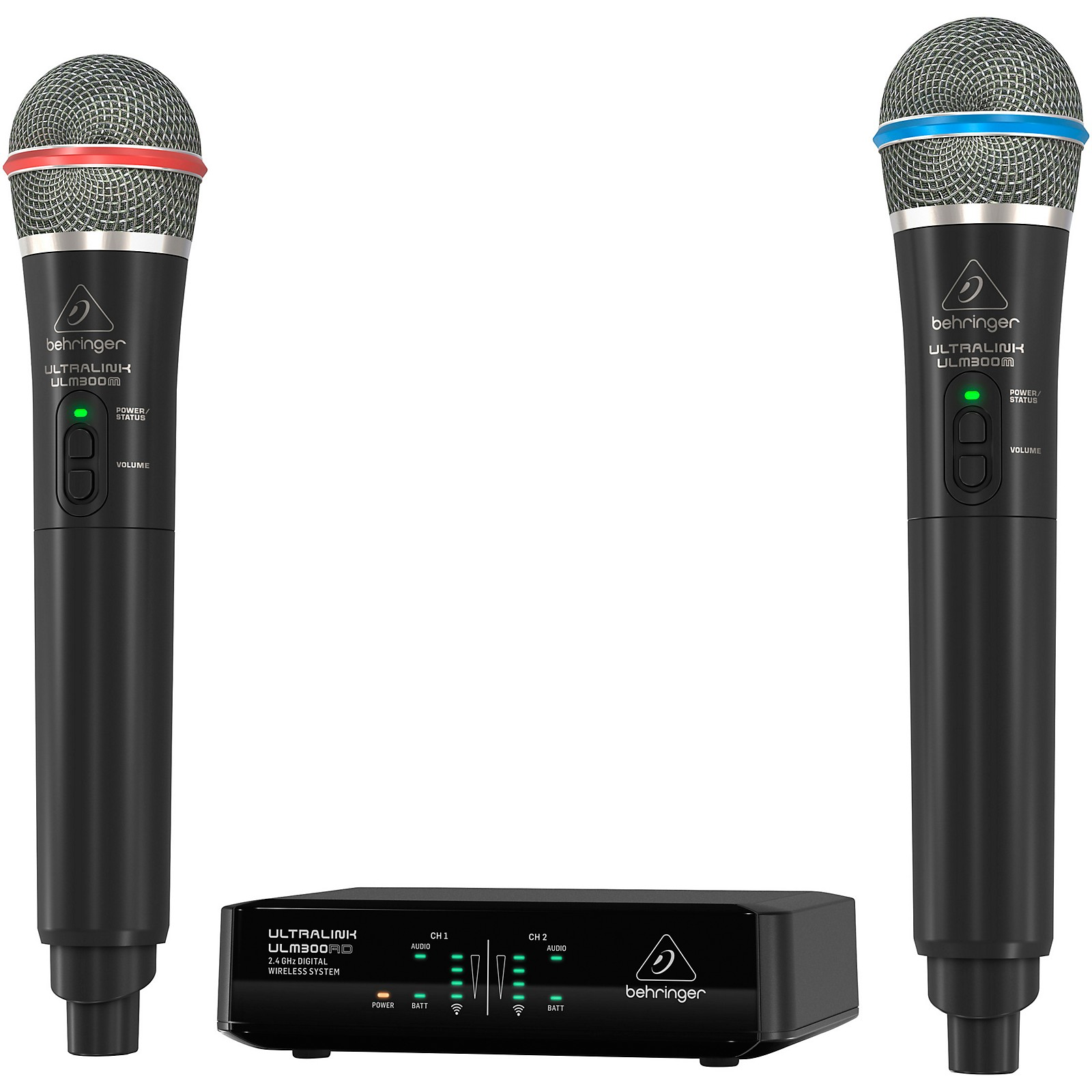 Behringer ULM302MIC High-Performance 2.4 GHz Digital Wireless System with 2 Handheld Microphones