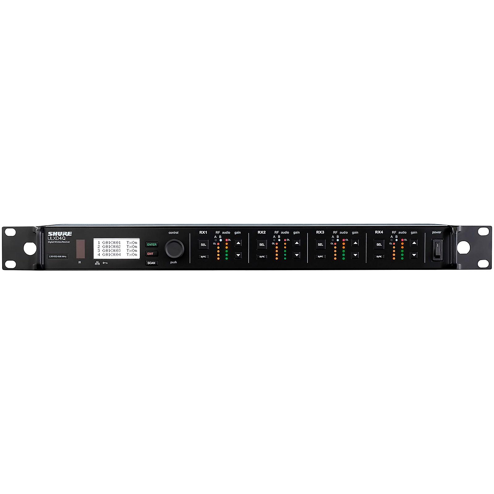Shure ULXD4Q Four-Channel Digital Wireless Receiver