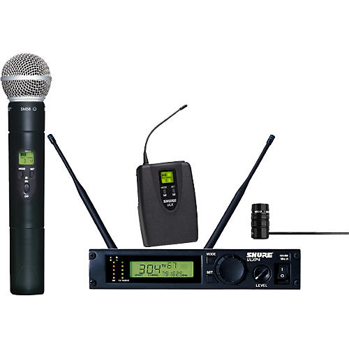 shure ulxp124 85 combo handheld lavalier wireless microphone system musician 39 s friend. Black Bedroom Furniture Sets. Home Design Ideas