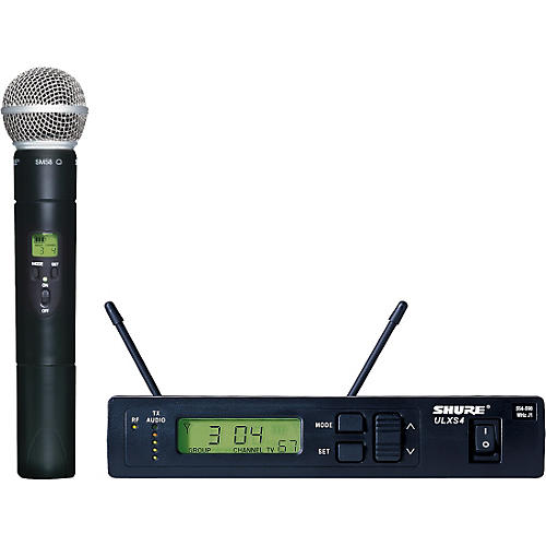 Shure ULXS24/58 Handheld Wireless Microphone System Condition 1 - Mint J1