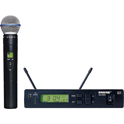 shure ulxs24 beta58 handheld wireless microphone system j1 musician 39 s friend. Black Bedroom Furniture Sets. Home Design Ideas