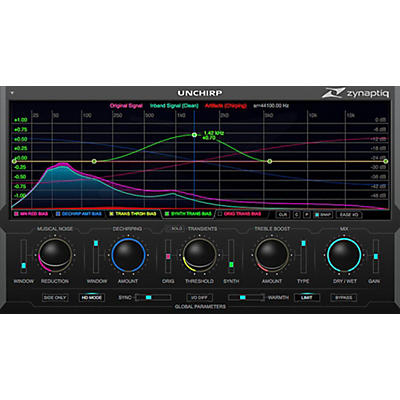 Zynaptiq UNCHIRP Artifact Removal & Transient Retrieval Plug-in Software Download