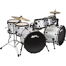 UNITY 8-Piece Double Bass Drum Shell Pack with PDP Hardware Silver Sparkle