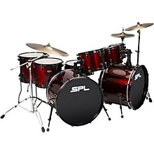 UNITY 8-Piece Double Bass Drum Shell Pack with PDP Hardware Wine Red
