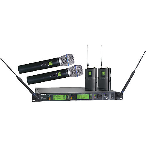 Shure UR124D/BETA87A Dual Bodypack Handheld Wireless Microphone System