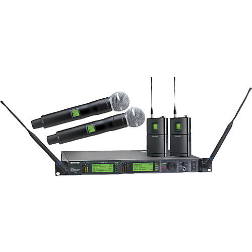 shure ur124d sm58 dual wireless instrument microphone system musician 39 s friend. Black Bedroom Furniture Sets. Home Design Ideas