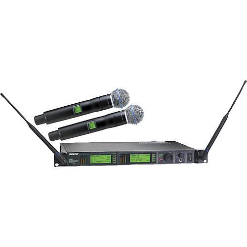 Shure UR24D/BETA58 Dual Handheld Wireless Microphone System