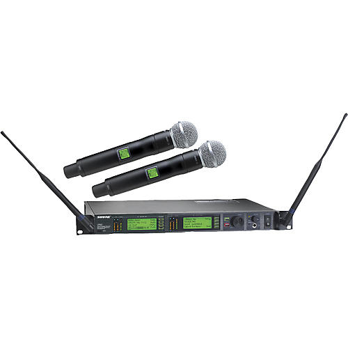 shure ur24d sm58 dual handheld wireless microphone system musician 39 s friend. Black Bedroom Furniture Sets. Home Design Ideas