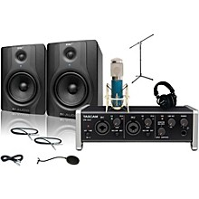Tascam US-2x2 MXL 4000 and M Audio BX5 Recording Package 1