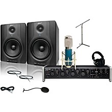 Tascam US-4x4 MXL 4000 and M Audio BX5 Recording Package 1