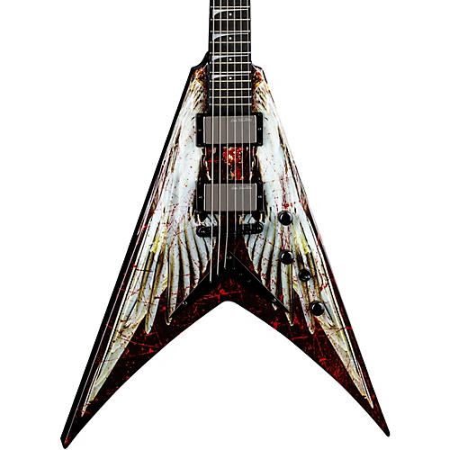Dean USA Dave Mustaine V Angel of Deth Electric Guitar Graphic