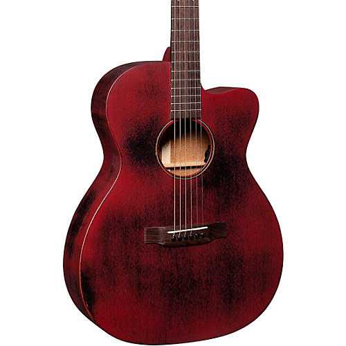 Martin USA Special OMC 15ME Streetmaster Style Acoustic-Electric Guitar Weathered Red