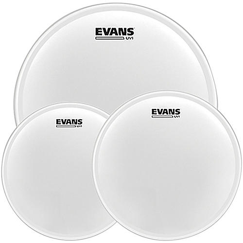 Evans UV1 Tom Pack with Free 14 in. UV1 Snare Head 12, 13, 16 in.