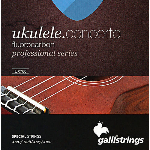 Galli Strings UX760 FLUOROCARBON Concerto UKULELE Strings