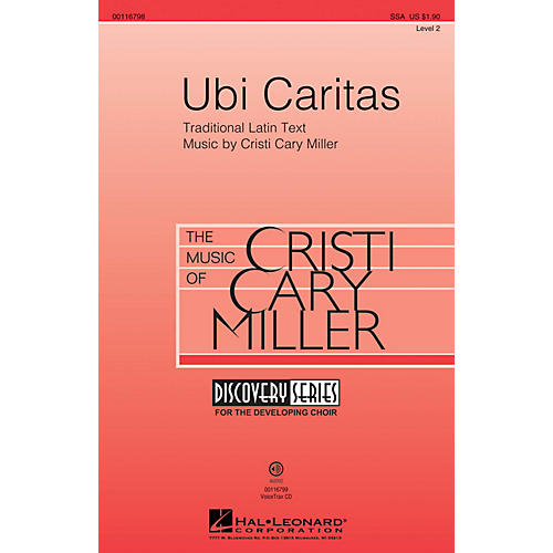 Hal Leonard Ubi Caritas (Discovery Level 2) SSA composed by Cristi Cary Miller