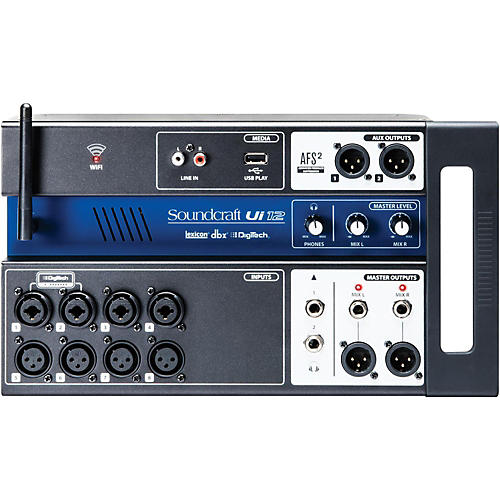 Soundcraft Ui12 Digital Mixer with Wi-Fi Router