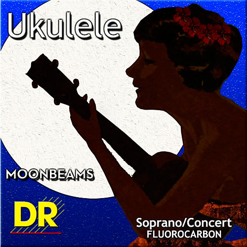 DR Strings Ukulele Clear Fluorocarbon Soprano or Concert Strings