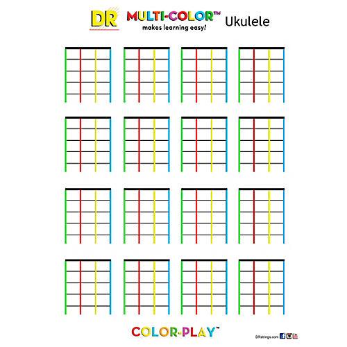DR Strings Ukulele Color Pad