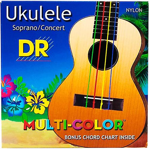 DR Strings Ukulele Multi-Color Soprano Concert Strings