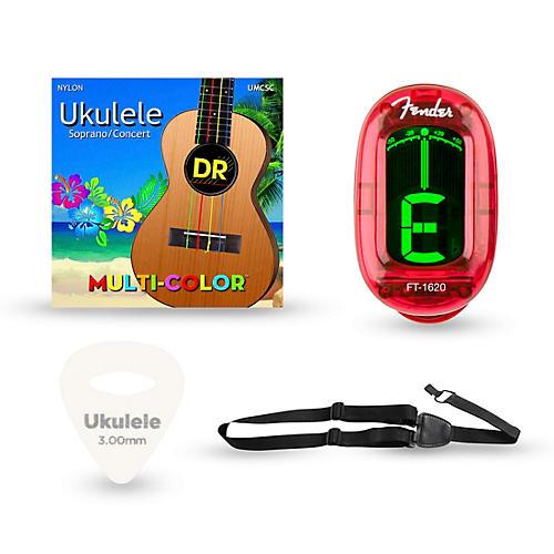 Musician's Friend Ukulele Soprano Accessory Kit: Strings, Picks, Strap and Tuner