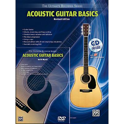 Alfred Ultimate Beginner Mega Pak Acoustic Guitar Basics (Rev. Ed.) Book, CD & DVD