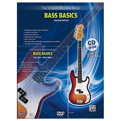 Alfred Ultimate Beginner Mega Pak Bass Basics (Revised Ed.) Book, CD & DVD