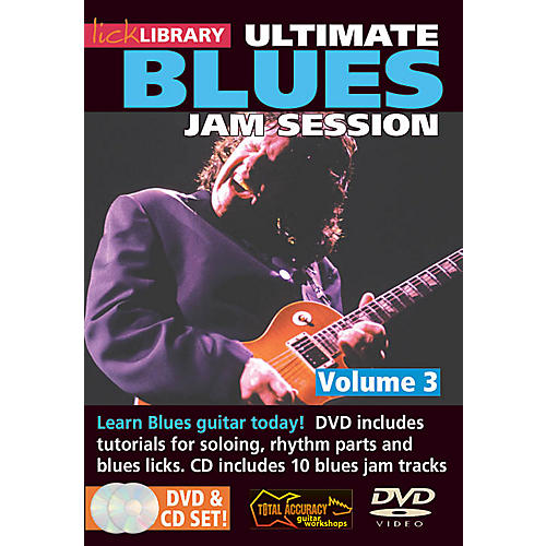 Licklibrary Ultimate Blues Jam Session (Volume 3) Lick Library Series DVD Performed by Stuart Bull