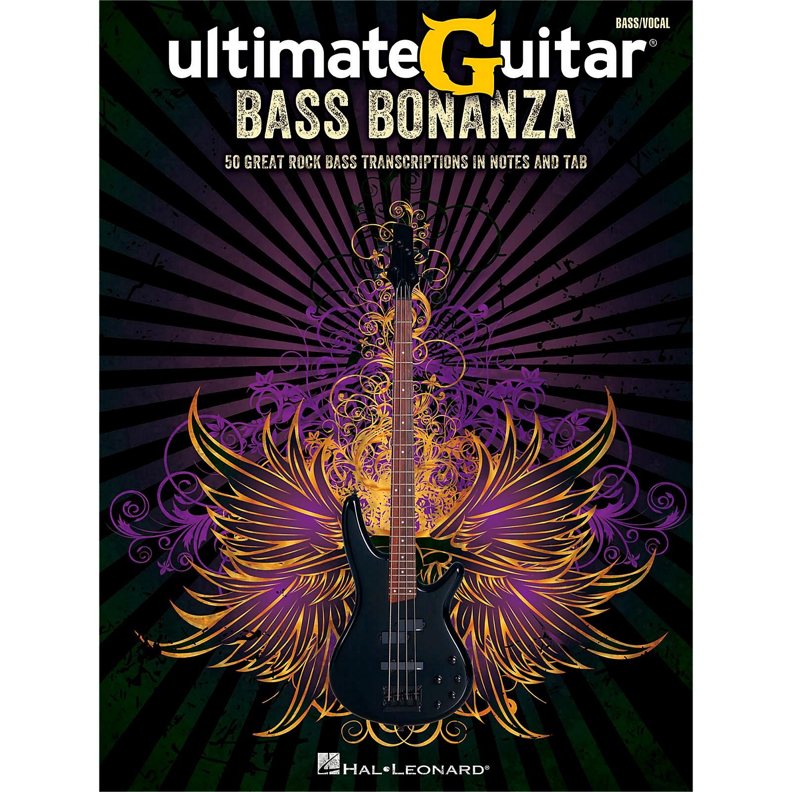Hal Leonard Ultimate Guitar Bass Bonanza Bass Tab Songbook