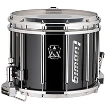 Ludwig Ultimate Marching Snare Drum, 14 x 12 in., Black